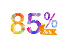 el 85 ochenta y cinco por ciento de venta Imágenes de archivo libres de regalías