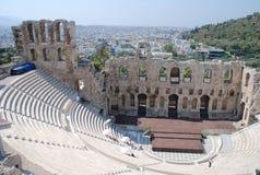 El Odeon del Atticus de Herodes, Atenas Foto de archivo