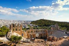 El Odeon del Atticus de Herodes, Grecia Foto de archivo