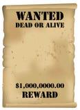 El oeste salvaje quiso el cartel Imágenes de archivo libres de regalías