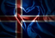El ofIceland de la bandera con el corazón Imagenes de archivo