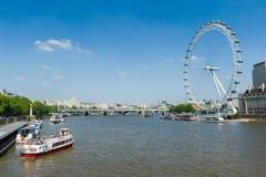 El ojo de Londres foto de archivo