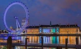El ojo de Londres imagen de archivo libre de regalías