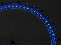 El ojo de Londres en la noche Imágenes de archivo libres de regalías