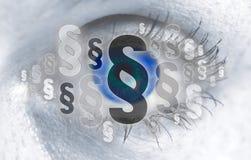 El ojo de los párrafos mira concepto del espectador fotografía de archivo