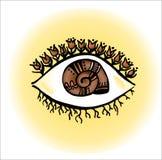 El ojo de mi jardín imagen de archivo