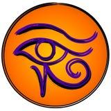 El ojo del símbolo del icono de Horus stock de ilustración