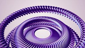 El ojo púrpura giratorio de mudanza de la cadena del metal del líquido circunda nueva calidad del lazo de la animación 3d del mov ilustración del vector