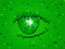 El ojo verde representa diseño y vista del contexto Fotografía de archivo