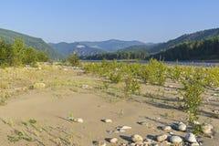 El Oka Sayanskaya River Valley Siberia, Rusia Fotos de archivo libres de regalías
