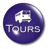El omnibus viaja la muestra del orbe del botón Fotos de archivo libres de regalías