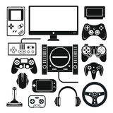 El ordenador, consola digital del juego online video, juego equipa el vector s Imágenes de archivo libres de regalías