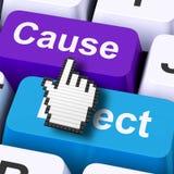 El ordenador del efecto de la causa significa la acción o la reacción de la consecuencia ilustración del vector