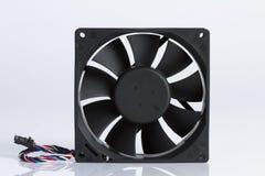 El ordenador del ` s de la fan con el fondo blanco Fotos de archivo libres de regalías