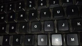 El ordenador del teclado foto de archivo