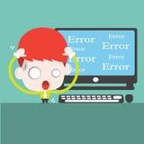 El ordenador es error ilustración del vector