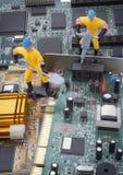 El ordenador parte la reparación Fotos de archivo