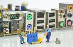 El ordenador repara concepto Imagen de archivo libre de regalías