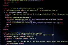el ordenador se casa código de la página imagen de archivo libre de regalías
