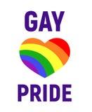 El orgullo gay LGBT del vector endereza la tarjeta libre illustration