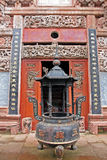 El Ornamental adornó maravillosamente la entrada a un templo del taoist, Ch Imagen de archivo libre de regalías