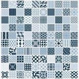 El ornamental gráfico teja la colección, sistema del vector monocromático con referencia a stock de ilustración