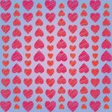 El ornamento abstracto de corazones arregló verticalmente en fondo azul libre illustration