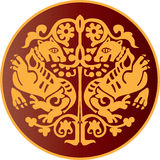 El ornamento de Byzantian fotos de archivo libres de regalías