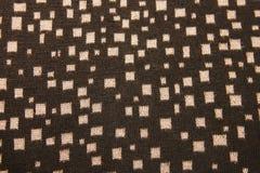 El ornamento en negro hizo punto la ropa caliente hecha punto las lanas para el wint Foto de archivo