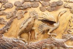 El ornamento en un bronce antiguo Foto de archivo libre de regalías