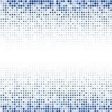 El ornamento geométrico de puntos azules en el fondo blanco libre illustration