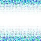 El ornamento geométrico de puntos azules y verdes en el fondo blanco stock de ilustración