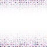 El ornamento geométrico de puntos multicolores en el fondo blanco libre illustration