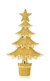 El oro adornó los árboles de navidad Fotografía de archivo