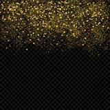 El oro chispea confeti Fondo del extracto del brillo del oro Fotografía de archivo