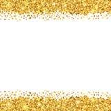 El oro chispea en el fondo blanco libre illustration