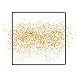 El oro chispea en el fondo blanco en marco Fondo del brillo del oro Contexto de oro para las invitaciones del vip y de boda libre illustration