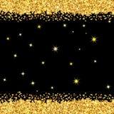 El oro chispea en fondo negro libre illustration