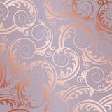 El oro color de rosa inconsútil remolina y sale del modelo Imagen de archivo libre de regalías