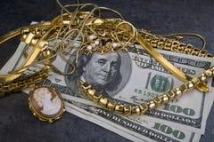 Oro del pedazo. Imagen de archivo libre de regalías