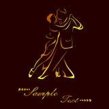 El oro del tango Foto de archivo libre de regalías