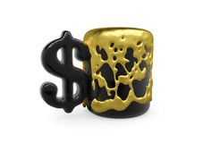 el oro del Taza-dólar expira libre illustration