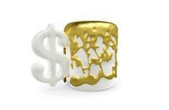 el oro del Taza-dólar expira stock de ilustración