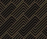 El oro geométrico forma el fondo Foto de archivo