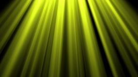el oro 4K o las luces amarillas del cielo desde arriba de la lente óptica suave señala por medio de luces animación brillante del almacen de video
