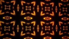 El oro llevó el fondo abstracto del movimiento del lazo de los cuadrados VJ de las partículas