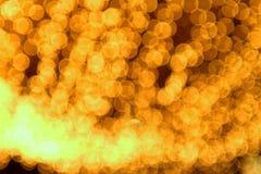 El oro mancha el bokeh Foto de archivo libre de regalías