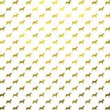 El oro persigue la polca metálica Dots White Background del perro de la falsa hoja Fotos de archivo