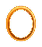 El oro plateó el marco de madera en blanco con la trayectoria de recortes foto de archivo libre de regalías