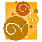 El oro remolina fondo de los círculos ilustración del vector